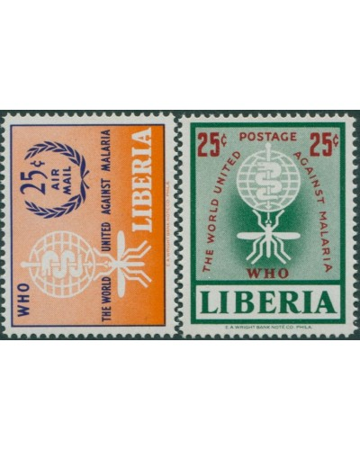 Liberia 1962 SG859-860 Malaria Eradication set MNH