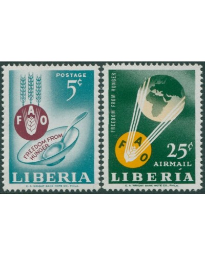 Liberia 1963 SG877-878 Freedom from Hunger set MNH