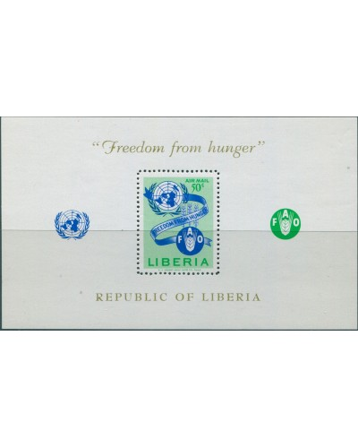 Liberia 1963 SG879 Freedom from Hunger MS MNH