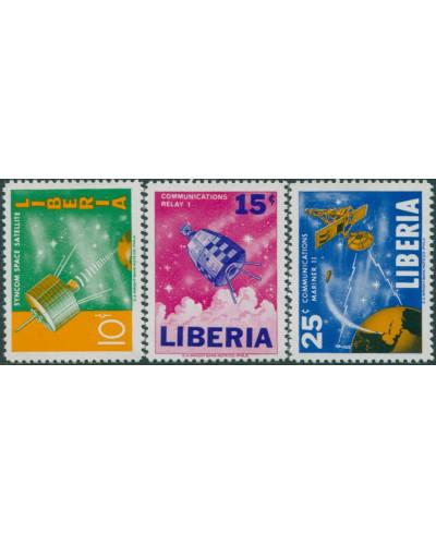 Liberia 1964 SG897-899 Space Communications set MNH