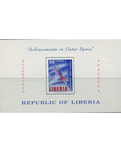 Liberia 1964 SG900 50c Space Communications MS MNH