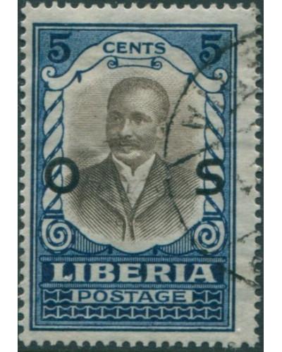 Liberia 1921 SGO431 5c President Howard FU