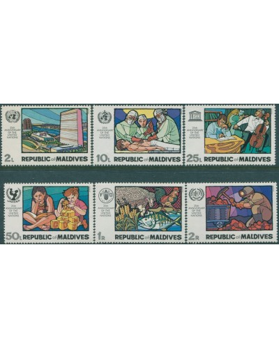 Maldive Islands 1970 SG327-332 Anniversary of UN set MNH