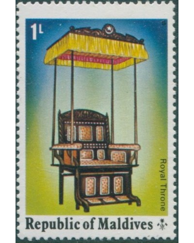 Maldive Islands 1975 SG553 1L Royal Throne MNH