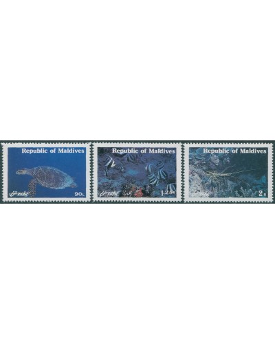 Maldive Islands 1980 SG909-911 Marine Animals set MNH