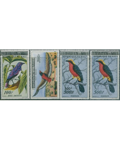 Mali 1960 SG17-20 Birds REPUBLIQUE DU MALI ovpts MNH