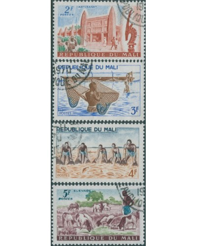 Mali 1961 SG32-35 House Fishing Sheep FU