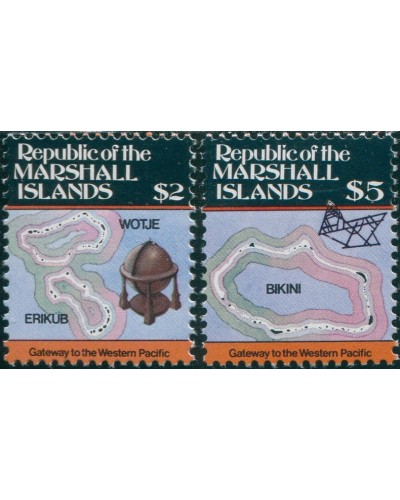 Marshall Islands 1984 SG18-19 Maps MNH