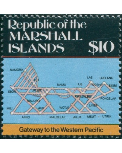 Marshall Islands 1984 SG20 $10 Map MNH