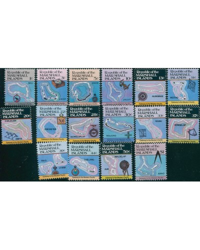 Marshall Islands 1984 SG5-17 Maps MNH