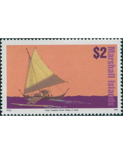 Marshall Islands 1993 SG510 $2 Canoe MNH