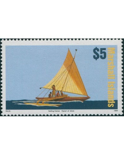 Marshall Islands 1993 SG511 $5 Canoe MNH