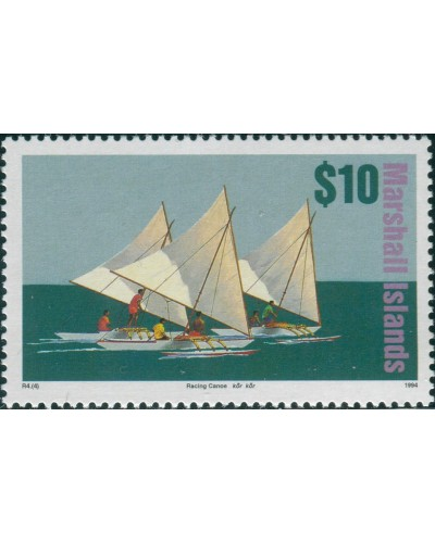 Marshall Islands 1993 SG512 $10 Canoe MNH