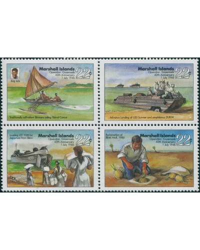 Marshall Islands 1986 SG80-83 Operation Crossroads set MNH