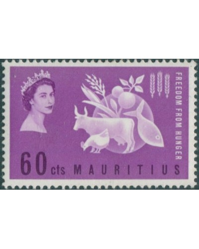 Mauritius 1963 SG311 60c Freedom from Hunger MLH