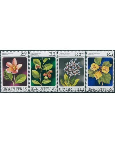 Mauritius 1981 SG605-608 Flowers set MNH