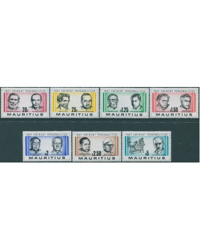 Mauritius 1981 SG618-624 Politicians and Physician set MNH
