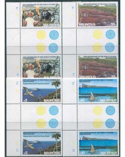 Mauritius 1985 SG712-715 World Tourism gutter pairs set MNH