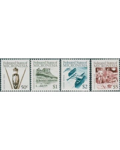 Micronesia 1984 SG17-20 People Artifacts MNH