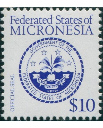 Micronesia 1984 SG20a $10 Official Seal MH