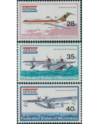 Micronesia 1984 SG21-23 Airplanes set MH