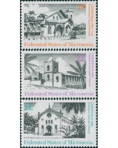 Micronesia 1985 SG36-38 Christmas set NH