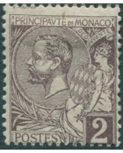 Monaco 1891 SG12 2c purple Prince Albert MH