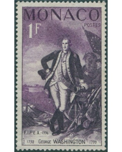 Monaco 1956 SG544 1f George Washington MLH