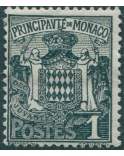 Monaco 1924 SG73 1c grey Arms MNH