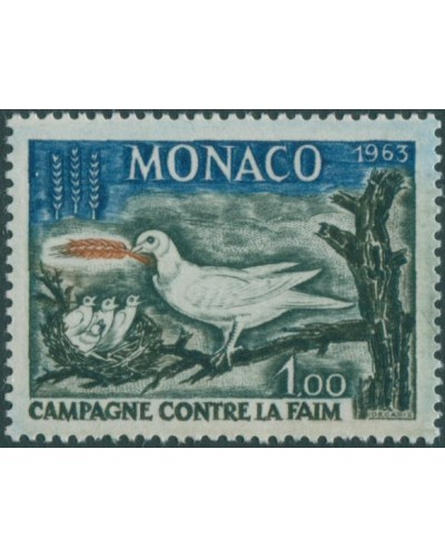 Monaco 1963 SG763 1f Freedom from Hunger MNH
