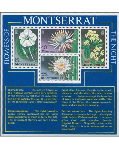 Montserrat 1977 SG403 Flowers of the Night MS MNH