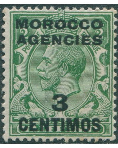Morocco Agencies 1914 SG128 3c on ½d green KGV MLH