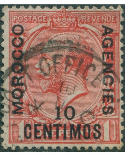 Morocco Agencies 1914 SG130 10c on 1d red KGV FU