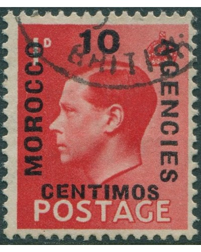 Morocco Agencies 1936 SG161 10c on 1d red KEVIII FU