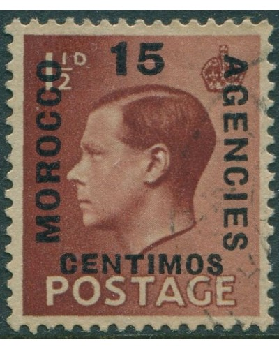 Morocco Agencies 1936 SG162 15c on 1½d brown KEVIII FU
