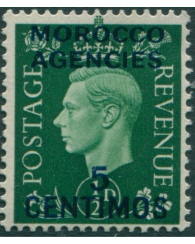 Morocco Agencies 1937 SG165 5c on ½d green KGVI MLH