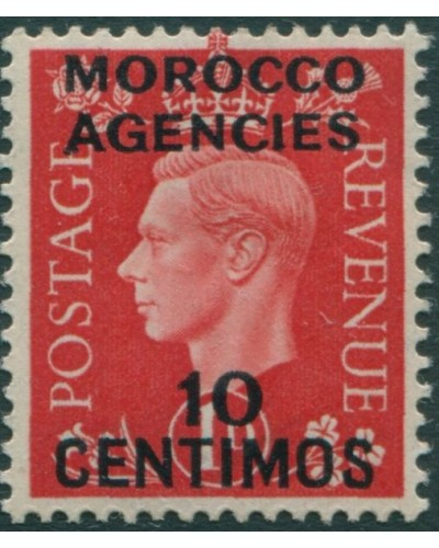 Morocco Agencies 1937 SG166 10c on 1d green KGVI MLH