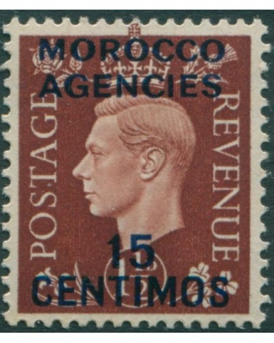 Morocco Agencies 1937 SG167 15c on 1½d brown KGVI MLH