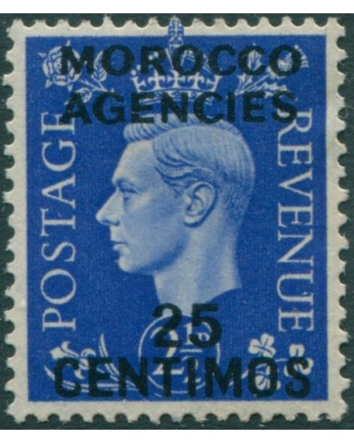 Morocco Agencies 1937 SG168 25c on 2½d blue KGVI MLH