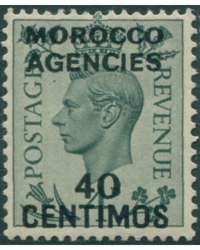 Morocco Agencies 1937 SG169 40c on 4d green KGVI MLH