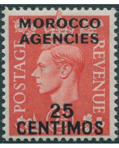 Morocco Agencies 1937 SG185 25c on 2½d red KGVI MLH