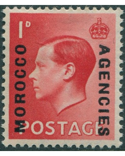 Morocco Agencies 1936 SG75 1d red KEVIII MLH