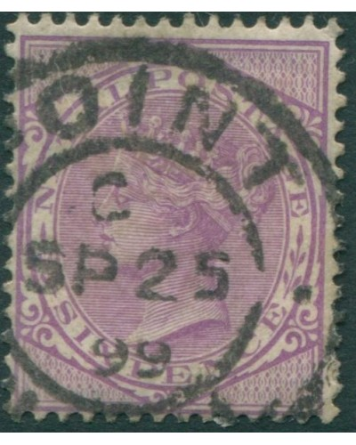 Natal 1874 SG103 6d lilac QV FU