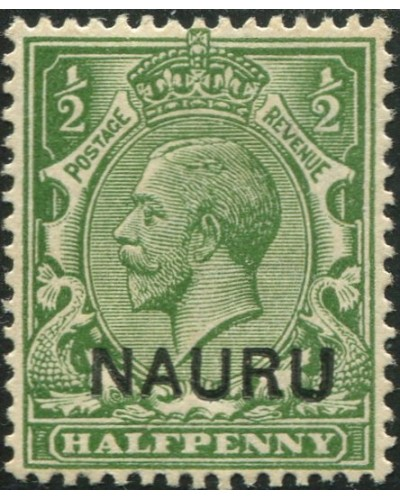 Nauru 1916 SG1 ½d yellow-green KGV ovpt MH