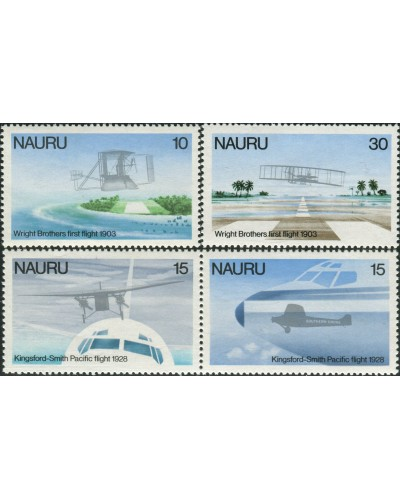 Nauru 1978 SG200-203 Flight aircraft set MNH