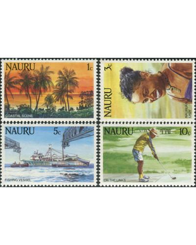 Nauru 1984 SG303-306 Scene Lady Vessel Golf MNH