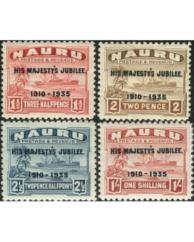 Nauru 1935 SG40-43 Freighter ovpt set MNH