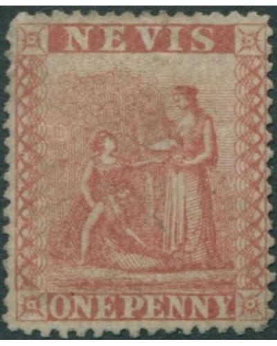 Nevis 1862 SG15 1d red Medicinal Spring FU