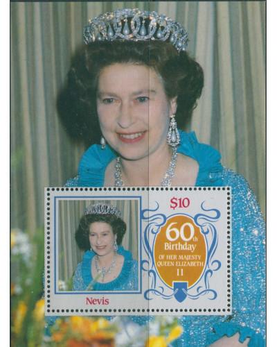 Nevis 1986 SG388 QEII 60th Birthday MS MNH
