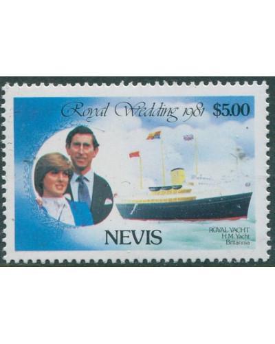 Nevis 1970 SG77 $5 Royal Yacht Princess Diana MNH